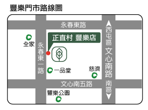 台中豐樂店地圖